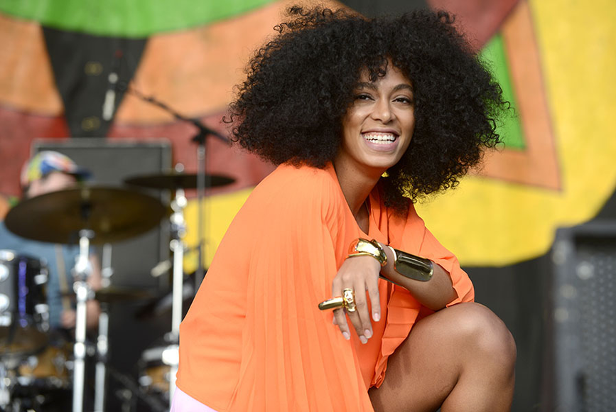 Solange Knowles at the 2014 New Orleans Jazz and Heritage Festival