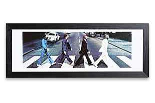 Beatles Abbey Road framed art: Hang it where all your friends 'Come Together.'