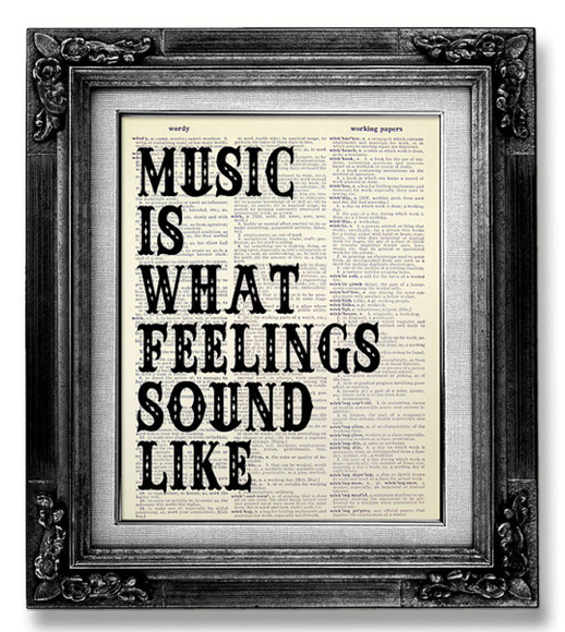 Music wall art: An alternative to the favorite band poster. Still makes a strong statement.