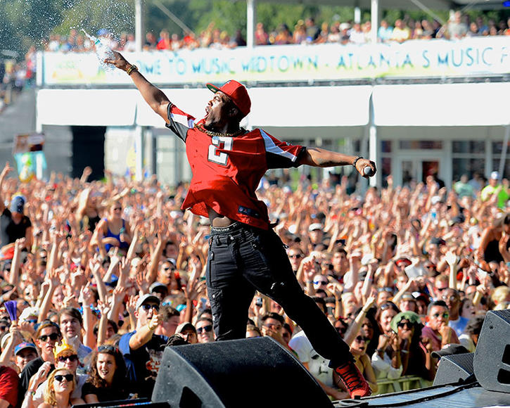 B.o.B. at Music Midtown
