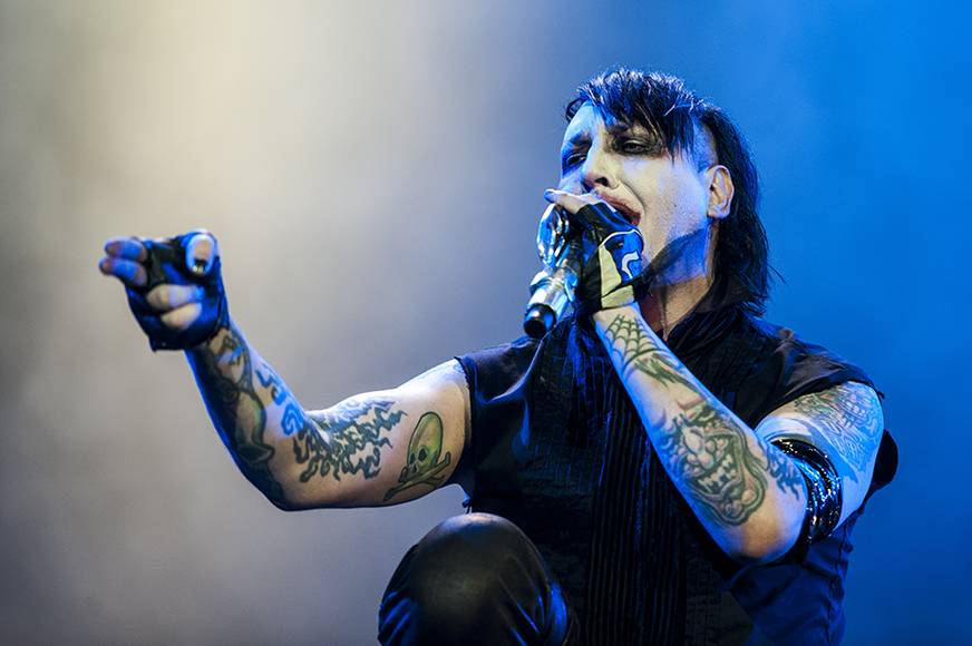 Marilyn Manson: This shock rocker gets heat for publicly tearing pages out of a certain religious text.