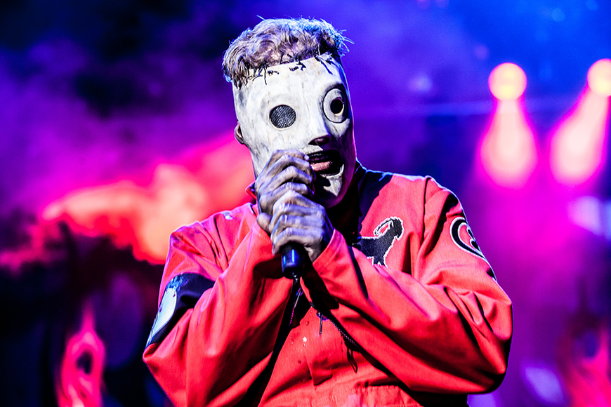 Slipknot: In the early days of their career, their masks were homemade. Their inaugural 'Knotfest' event will have a signature scent...and that scent is camel poo.