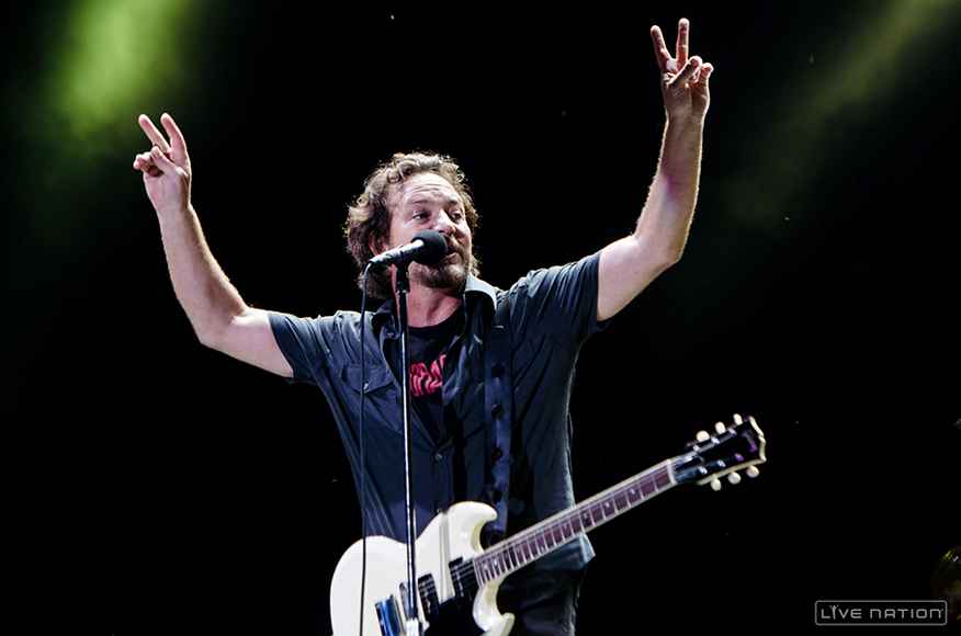 Pearl Jam at ACL Weekend 2. One Nation exclusive.