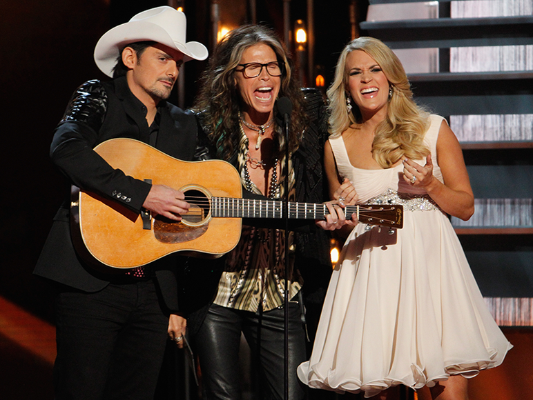 Brad Paisley, Steven Tyler and Carrie Underwood
