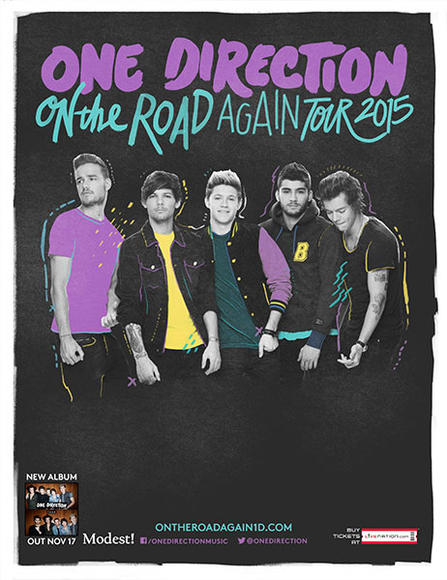 In October, One Direction announced they'd be hitting the road again in 2015. The international tour will begin February 7, 2015 and end on September 12, 2015.