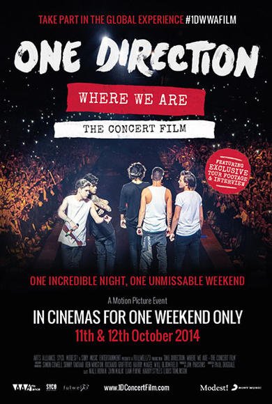After their tour concluded, 1D released their second concert film with footage from their show at San Siro in Milan, Italy. It was only in theaters for one weekend and grossed $15 million, breaking the record for the highest grossing event cinema production ever.