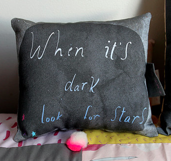 """When It's Dark Look For Stars"" Cushion"