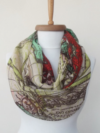 World Map Infinity Scarf