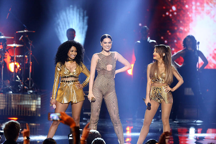 Nicki Minaj, Jessie J, and Ariana Grande