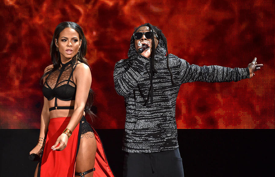 Lil Wayne and Christina Milian