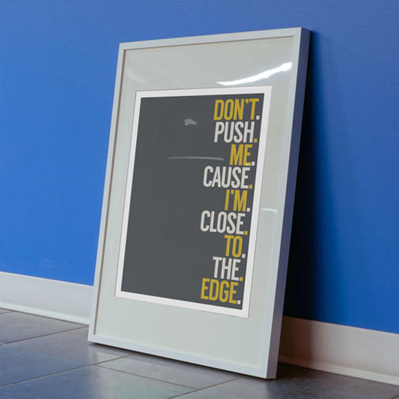 Grandmaster Flash quote print