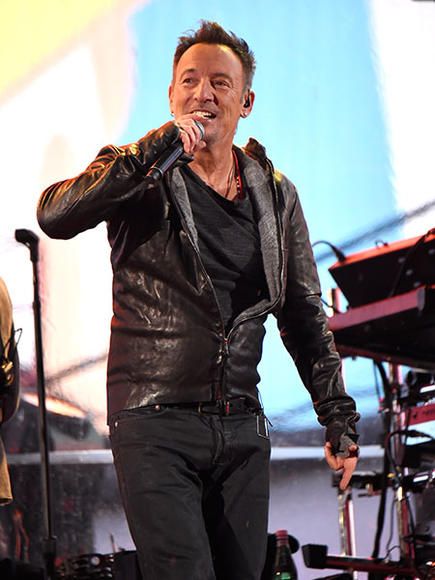 Bruce Springsteen performing with U2