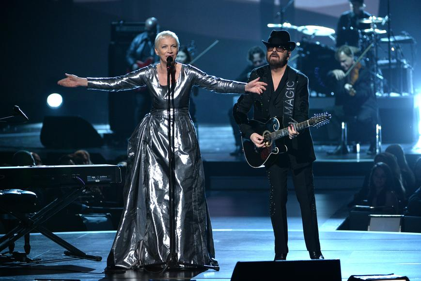 "Eurythmics: Annie Lennox and Dave Stewart reunited for a Beatles Tribute at ""The Night That Changed America: A Grammy Salute To The Beatles"""