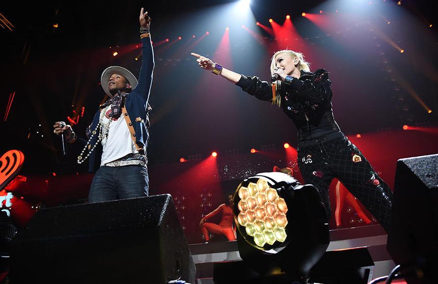 Pharrell and Gwen Stefani