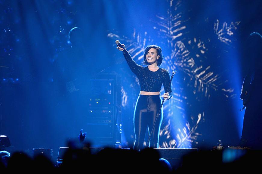 Demi Lovato at HOT 99.5's Jingle Ball 2014 in Washington, D.C.