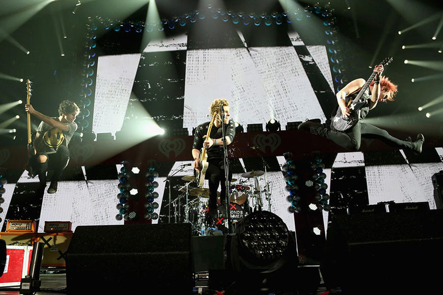 5 Seconds of Summer at KISS 108's Jingle Ball 2014 in Boston.