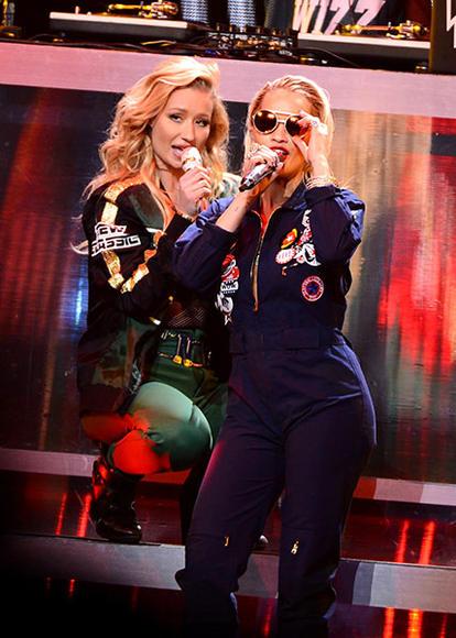 Iggy Azalea and Rita Ora at HOT 99.5's Jingle Ball 2014 in Washington D.C.