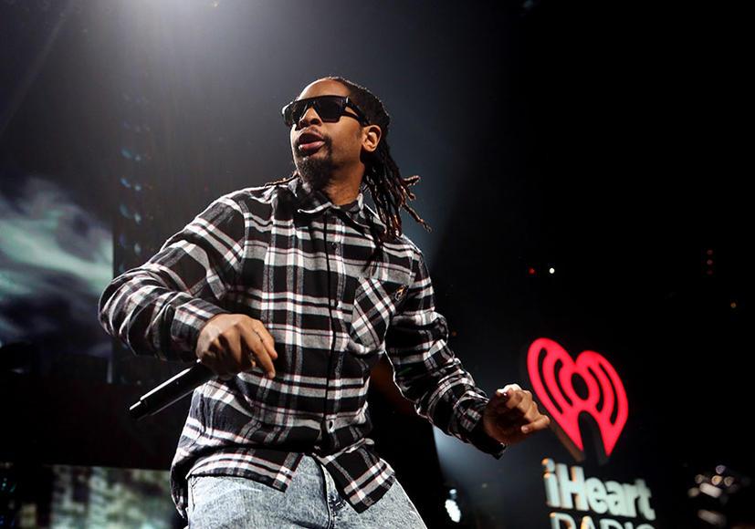 Lil Jon at KISS 108's Jingle Ball 2014 in Boston.