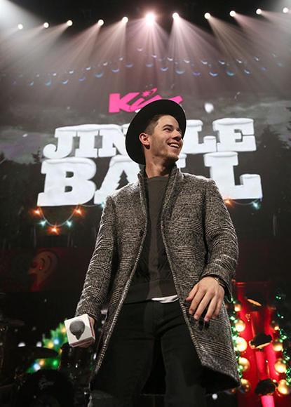 Nick Jonas at KISS 108's Jingle Ball 2014 in Boston.