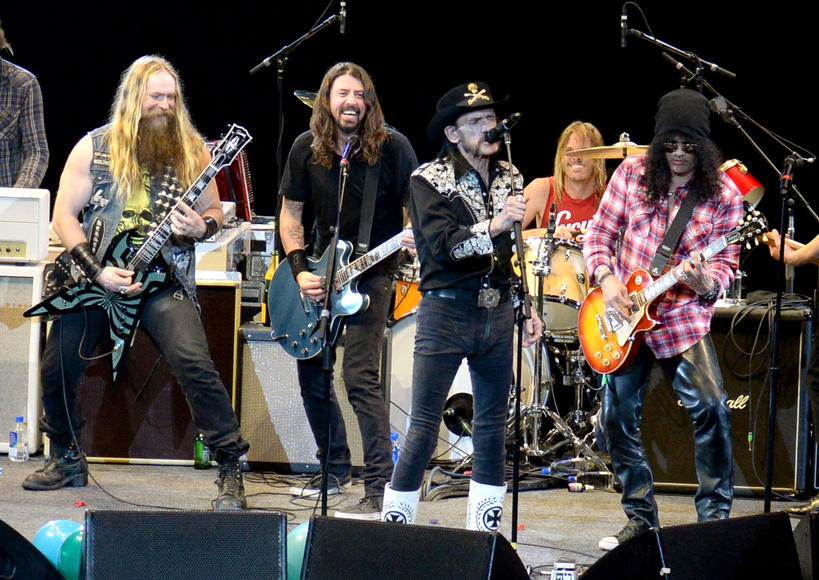 With Zakk Wylde, Lemmy Kilmister (Motörhead) and Slash