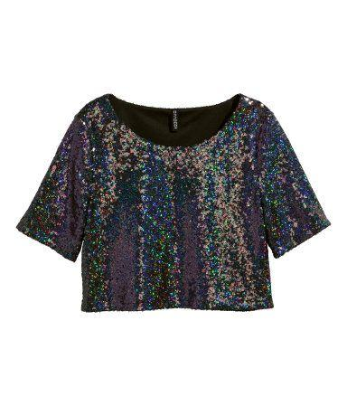 Short Sequined Top