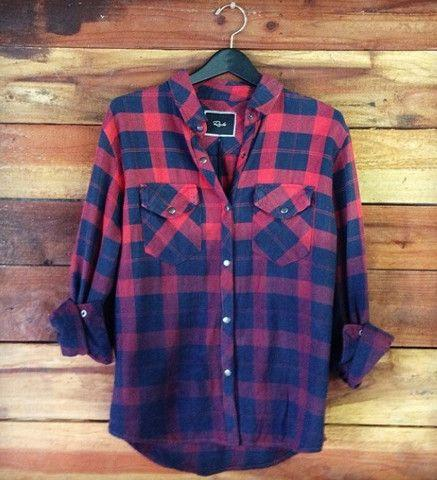 Rails Erin Shirt in Red/Navy Ombre