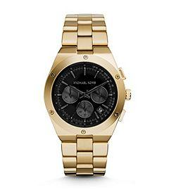 Reagan Onyx and Gold-Tone Watch