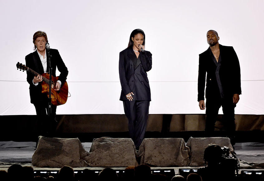 Rihanna, Kanye West, Paul McCartney: FourFiveSeconds