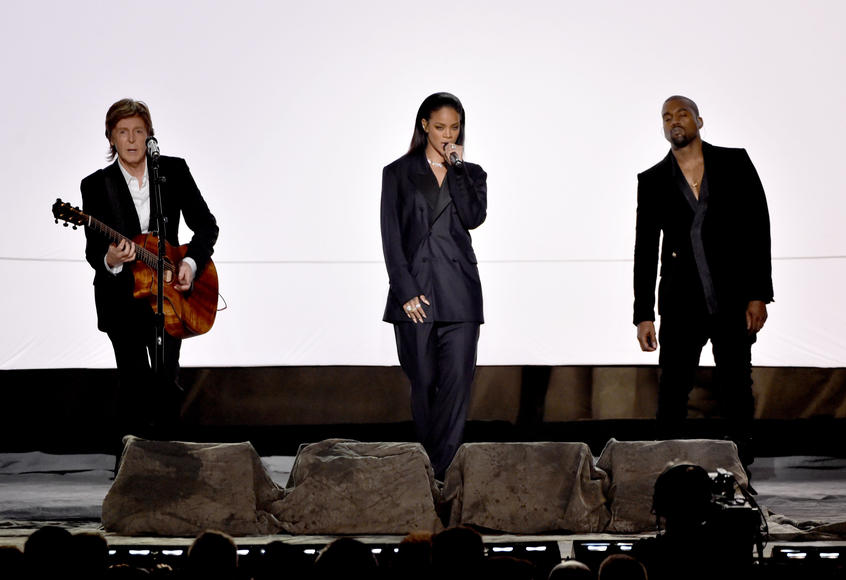 Rihanna, Kanye West, and Paul McCartney at the GRAMMY Awards