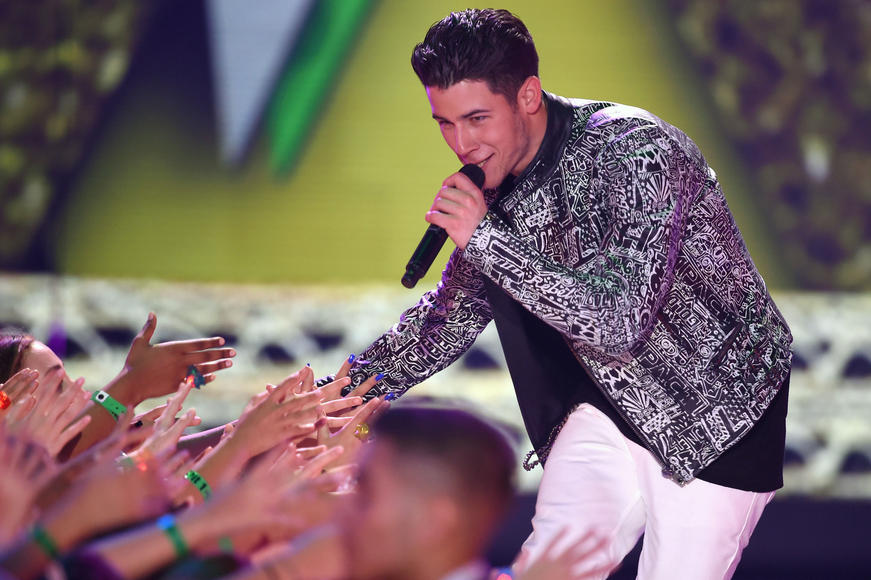 Nick Jonas at Kids' Choice Awards
