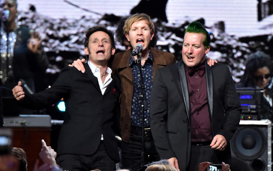 Beck, Mike Dirnt & Tre Cool (Green Day)