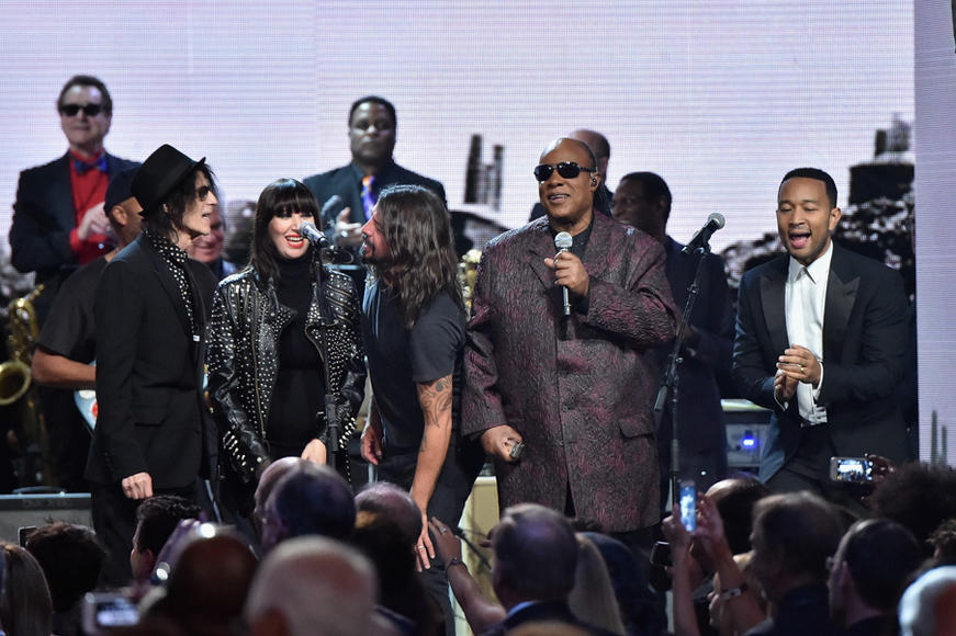 Peter Wolf, Karen O, Tom Morello, Dave Grohl, and Stevie Wonder