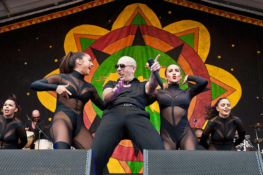 Pitbull at NOLA Jazz Festival