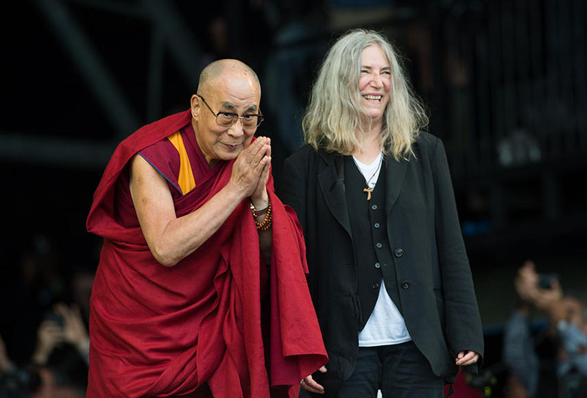 The Dalai Lama and Patti Smith