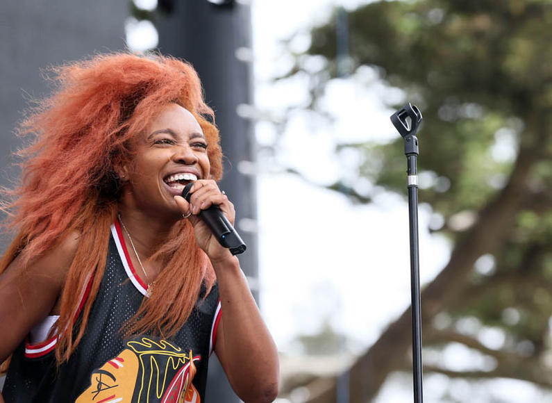 SZA at Outside Lands Music and Arts Festival.
