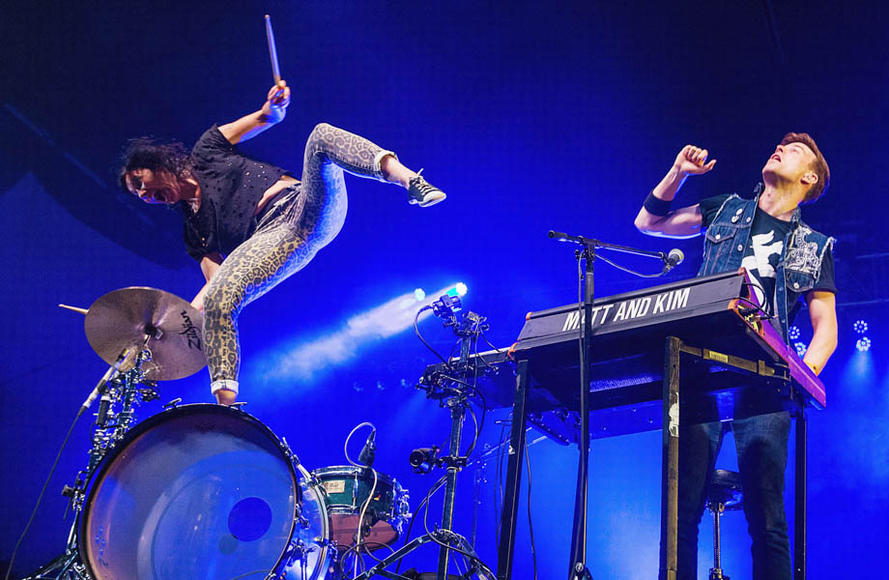 Matt and Kim at 107.7 The End's Summer Camp.