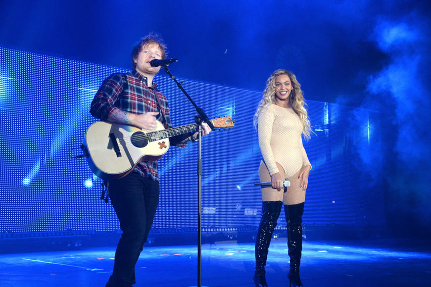 Ed Sheeran and Beyoncé at Global Citizen Festival