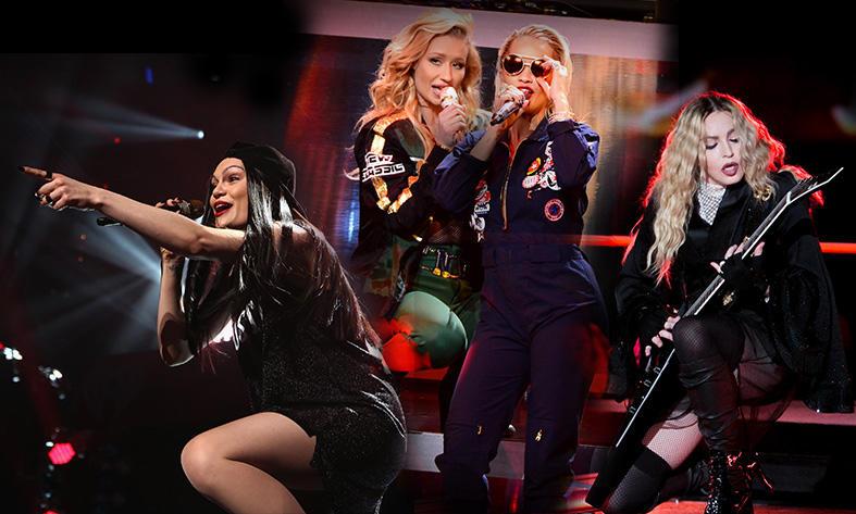 Jessie J, Iggy Azalea, Rita Ora, Madonna