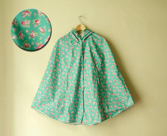 Karmology Clinic floral raincoat