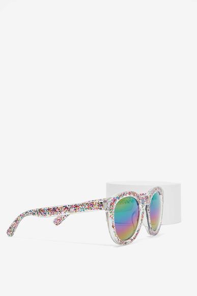 Nasty Gal glitter fest rainbow shades
