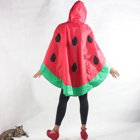 I Love No Names watermelon rain poncho