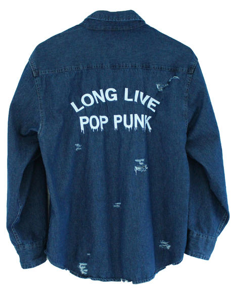"Jawbreaking ""Long Live Pop Punk"" denim shirt"