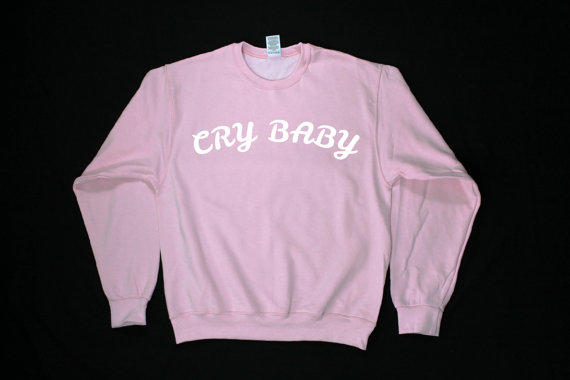 Melanie Martinez-inspired sweater: They call you cry baby, but you don't care, you'll just laugh through your tears!