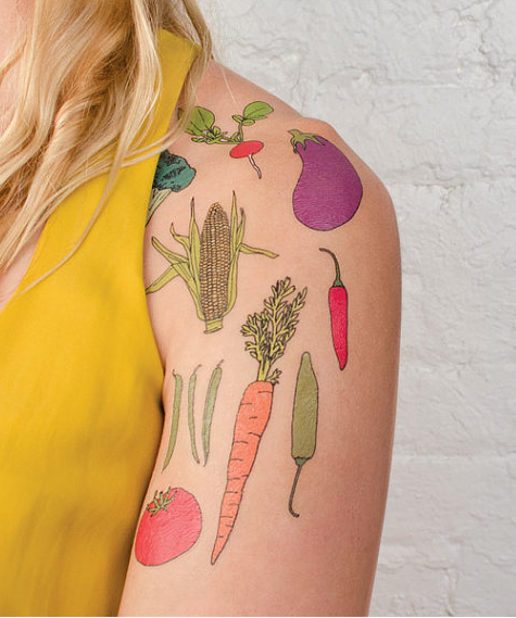 Casey Veggies-inspired tattoos: Show your vegetable love with some healthy body art!
