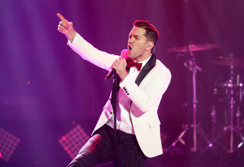 Andy Grammer at Dick Clark's New Year's Rockin' Eve 2016