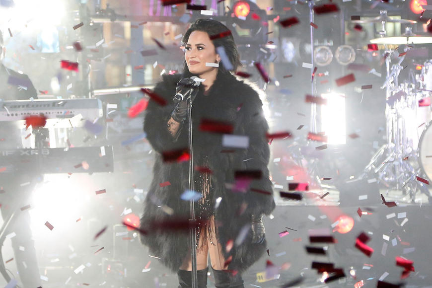 Demi Lovato at Dick Clark's New Year's Rockin' Eve
