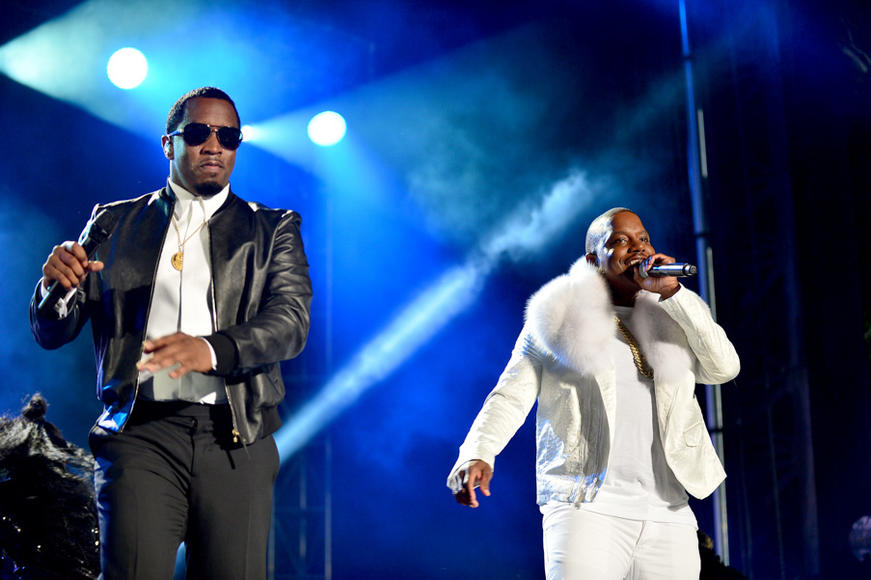 P. Diddy and Mase at Pitbull's New Year's Eve Revolution 2016
