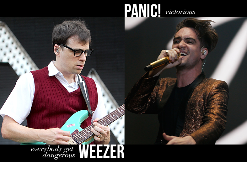 Weezer - Everybody Get Dangerous / Panic! at the Disco - Victorious