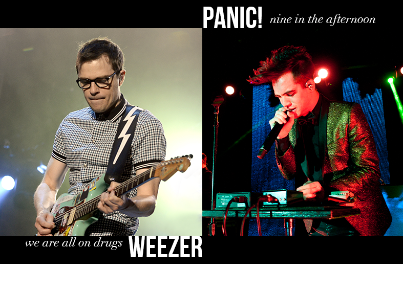 Weezer - We Are All on Drugs / Panic! at the Disco - Nine in the Afternoon