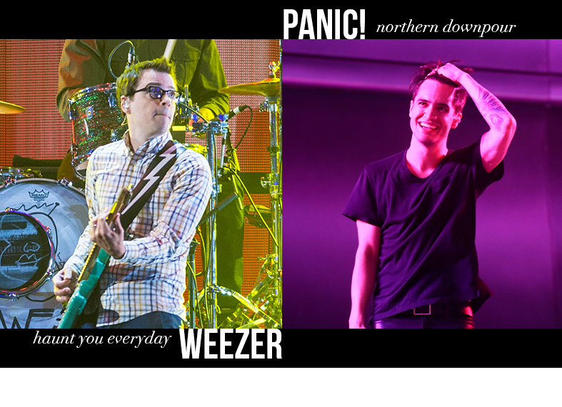Weezer - Haunt You Everyday / Panic! at the Disco - Northern Downpour